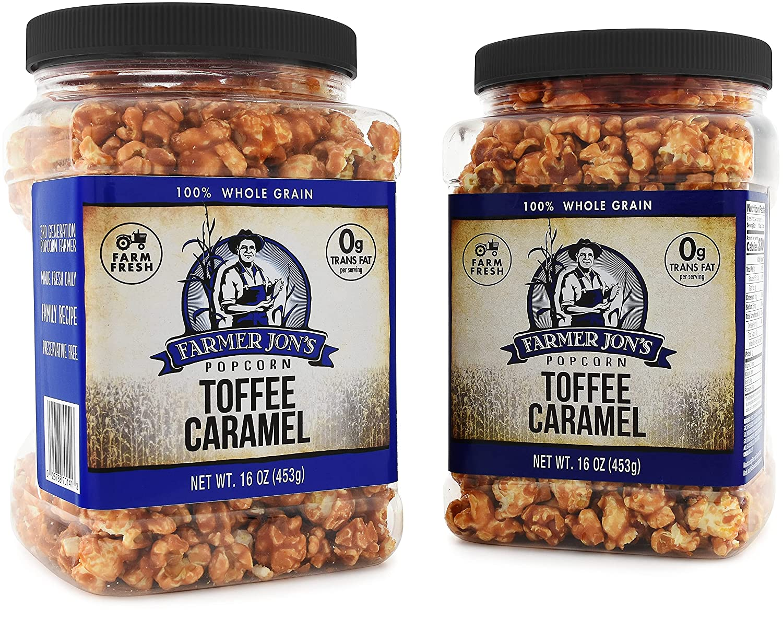 Farmer Jon's Toffee Caramel Popcorn Award-winning store of OFFicial shop Jar Popped Gourmet 16oz