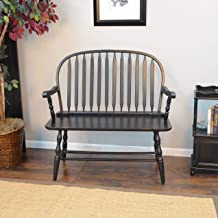 product image for Carolina Chair and Table Winston Antique Black Bench