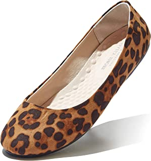 Women's Classic Flats Comfortable Upper Round Flat Slip-On Loafer Sneaker Shoes-Ideal for Casual Occasions