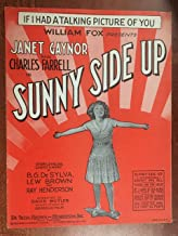 IF I HAD A TALKING PICTURE OF YOU (1929 SHEET MUSIC BG DeSylva) Excellent condition, as featured in SUNNY SIDE UP with Janet Gaynor (pictured) (Pictured)