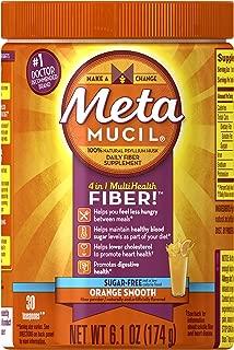 Metamucil Daily Fiber Supplement, Orange Smooth Sugar Psylllium Husk Fiber Powder, 30 Doses