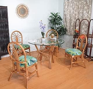 Premium Rattan Dining Furniture 5 Piece Set (#2401H-BP)