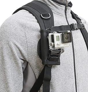 ウェアラブルカメラ GoPro用 アクセサリー バックパック リュックサック ショルダーバッグ ベルクロ 簡単脱着 360° 回転 角度調整 ベルト マウント パッド - Gopro Hero series Gopro session/fusion, DJI OSMO Action, SJCAMなどのスポーツカメラに対応 Type BP-RM (ベルトマウント)
