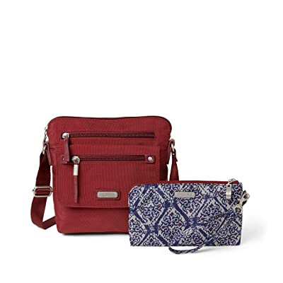 Baggallini New Classic Escape Crossbody with RFID Phone Wristlet (Russet Red) Handbags
