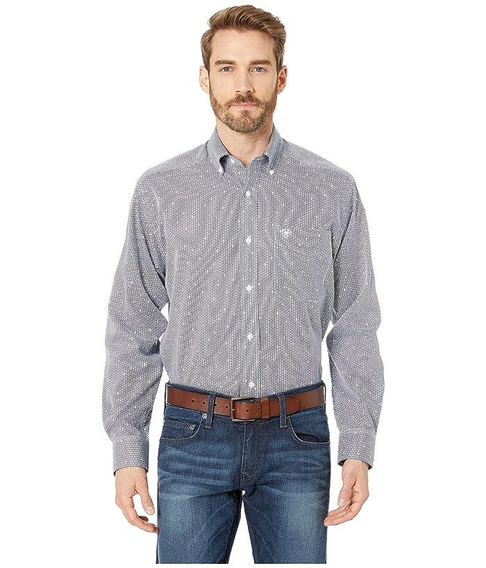 Ariat Wrinkle Free Lannes Print Shirt (White) Men