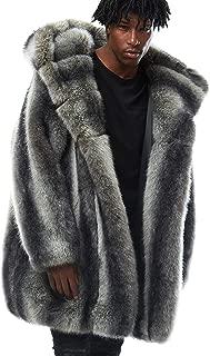 Smoke Rise Full Faux Coat(JJ9088) Black/Grey