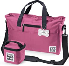 Dog Travel Bag - Day Away Tote Dogs - Includes Bag, Lined Food Carrier, and Luggage Tag