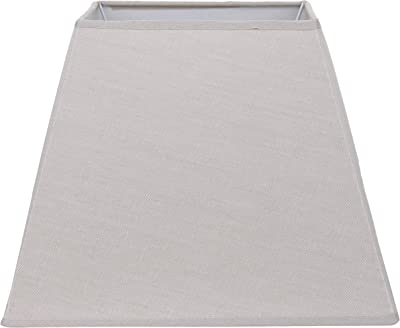 Better & Best Abat-jour carré en lin, 30,5 cm, couleur taupe, dimensions inférieures : 29,5 x 29,5 cm supérieur : 17,5 x 17,5 cm, hauteur : 23 cm,