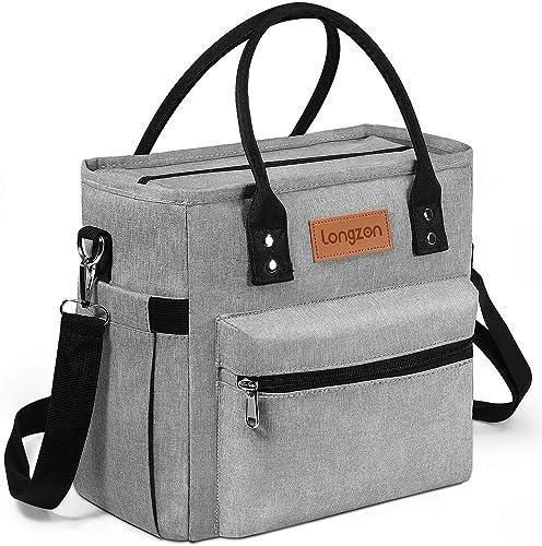 Sac Isotherme Repas, longzon 10L Grande capacité Isothermal Lunch Box Isotherme Bag Boite Repas,Sac Isotherme Bureau,...