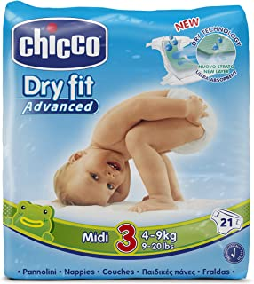 Chicco Dry Fit Advanced Midi 3 (4-9 kg) 10 x 21 = 210 Pañ