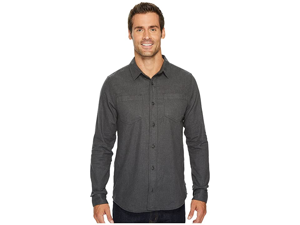 Toad&Co Flannagan Solid Long Sleeve Shirt (Charcoal Heather) Men