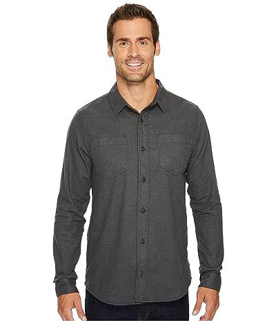 Toad&Co Flannagan Solid Long Sleeve Shirt (Charcoal Heather) Men