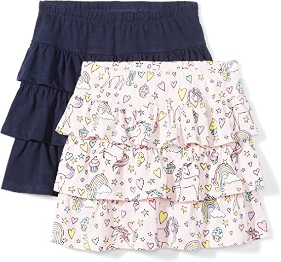 Spotted Zebra 2-Pack Twirl Scooter Skirts Ni/ñas Pack de 2