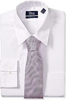 Studio 1735 Mens Mens Dress Shirt and Tie Combo Neat Tie Athletic Dress Shirt