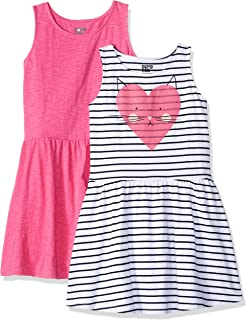 d713d54fec94 Amazon Brand - Spotted Zebra Girls' 2-Pack Knit Sleeveless Fit and Flare  Dresses