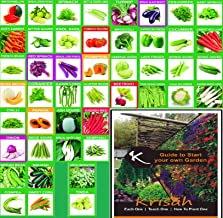 Krisah® (1985+) 46 Varieties of Vegetables Seeds Combo with Starting your own Garden Guide