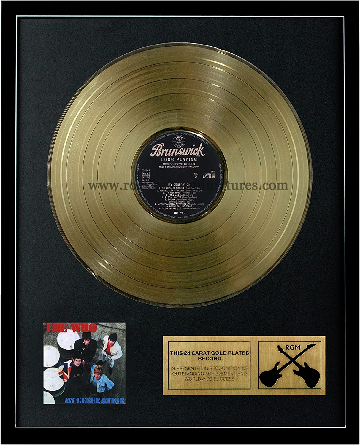 RGM1005 The Who My Generation gold Plated LP 12