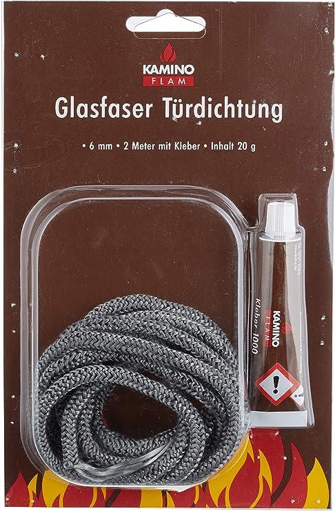 Dichtschnur Dichtkordel anthrazit f/ür Kamin/öfen 6mm 3,0 Meter 2x Kleber anthrazit