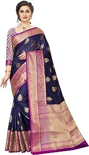 330e41369 Silk Zone Women's Banarasi Kanjivaram Cotton Art Silk Saree with Blouse  (SZ-CRB2_2;