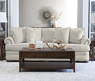 """Klaussner Home Furnishings Tilden Sofa with 4 Throw Pillows, 45""""L x 97""""W x 37""""H, Sand"""