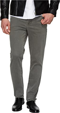 Slim Straight Stretch Denim Jeans in Gunmetal