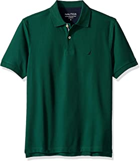 Nautica mens Classic Short Sleeve Solid Polo Shirt Polo Shirt