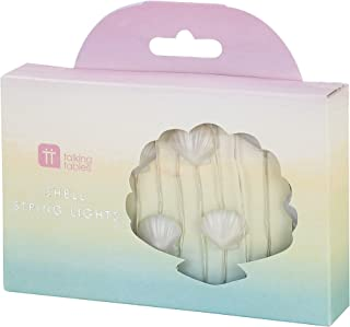 Talking Tables MERMAID-SHELLLIGHT We Heart Birthdays Pink Balloon Plates, Papier, Multicolores, 2,5 x 13,5 x 12,4 cm