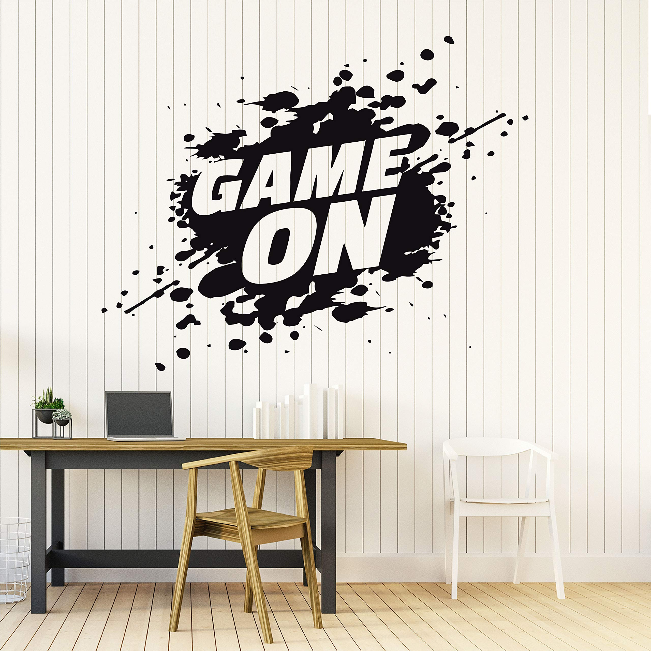 Amazon Com 22 X 28 In Gamer Wall Decor For Boys Room Gaming Decals Video Game Vinyl Stickers Teen Bedroom Art Decorations Computer Retro Controller Poster Sign Quotes Eat