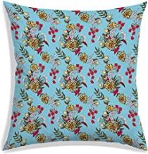 RADANYA Flower Throw Pillow Covers Tropical Leaves Home Decorative Throw Pillow Covers 30 cm x 30 cm Cushion Covers for Pa...