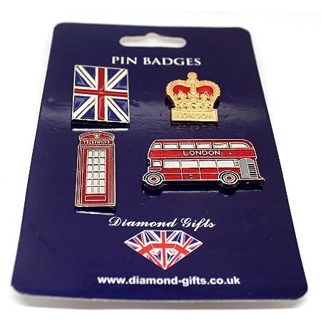 Pin Badge Set England London