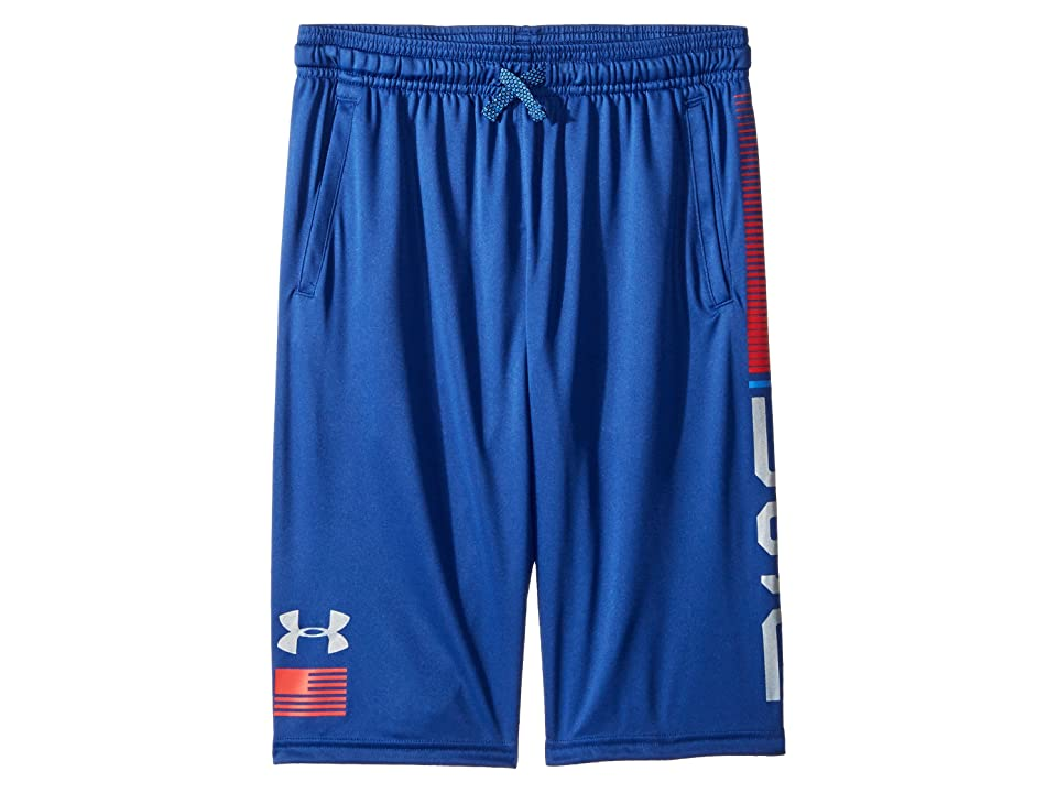 Under Armour Kids USA Shorts (Big Kids) (American Blue/Green Typhoon/Silver) Boy's Shorts