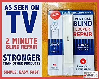 Keep It Simple Products 2 Minute Vertical Blind Repair Strips White x 4