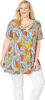 Jessica London Women`s Plus Size Cross Neck Tunic
