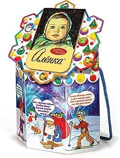 Gift box Christmas New Year Holiday Russian Chocolate Candy Assortment Alenka, 400g