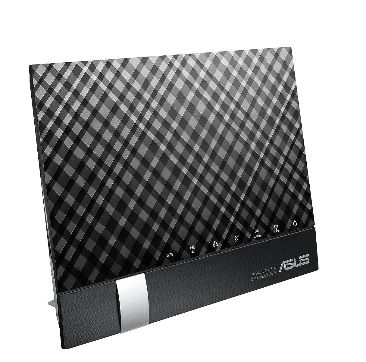 家族リビングルーム骨髄ASUS デュアルバンド WiFi 無線LAN ルーター RT-AC65U 11ac デュアルバンド AC1900 1300+600Mbps 最大15台 4LDK 3階建向け MU-MIMO対応