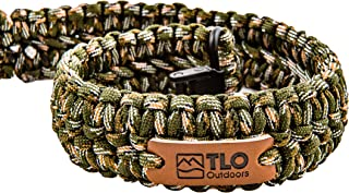 TLO Outdoors Paracord Gun Sling - Extra Wide, Adjustable 2-Point Paracord Sling with Swivels for Rifle, Shotgun, and Crossbows for Hunting & Shooting (550 Rated Nylon, Kernmantle)