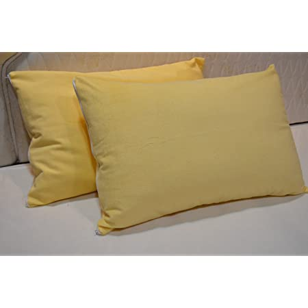 """Trance Home Linen Waterproof and Dustproof Cotton Pillow Protector (20"""" X 30"""", Ivory Yellow)"""