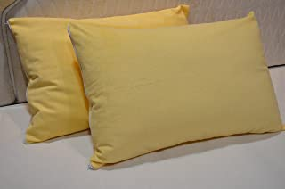 "Trance Home Linen Waterproof and Dustproof Cotton Pillow Protector (20"" X 30"", Ivory Yellow)"