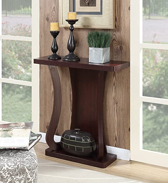 Convenience Concepts Newport Console Table Mahogany