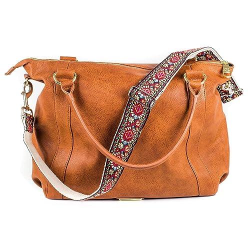 80ef0689faee Red Vintage Handbag   Purse Strap Replacement - Jacquard Woven Embroidered  Guitar Strap Styled Shoulder Bag