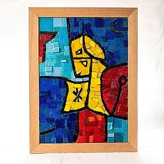 Idea Regalo Originale Natale/Compleanno: SENTINELA ASTRALE Ernst Paul Klee - Kit mosaico fai da te 32x23 cm - Tessere di m...