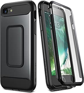 YOUMAKER Case for iPhone 8 & iPhone 7, Full Body with Built-in Screen Protector Heavy Duty Protection Shockproof Slim Fit Cover for Apple iPhone 8 (2017) / iPhone 7 (2016) 4.7 Inch - Black