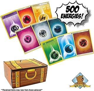 500 Pokemon Energy Card Lot - All Energy! Includes Golden Groundhog Treasure Chest Box!
