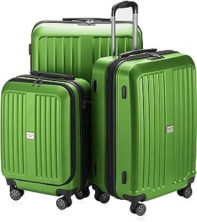 HAUPTSTADTKOFFER X-Berg Luggages Set Suitcase Set Hardside Spinner Trolley Expandable(20',24'&28') TSA Applegreen