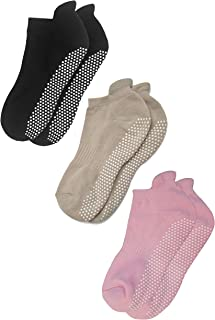 Anti Slip Non Skid Barre Yoga Pilates Hospital Socks with grips for Adults Men Women