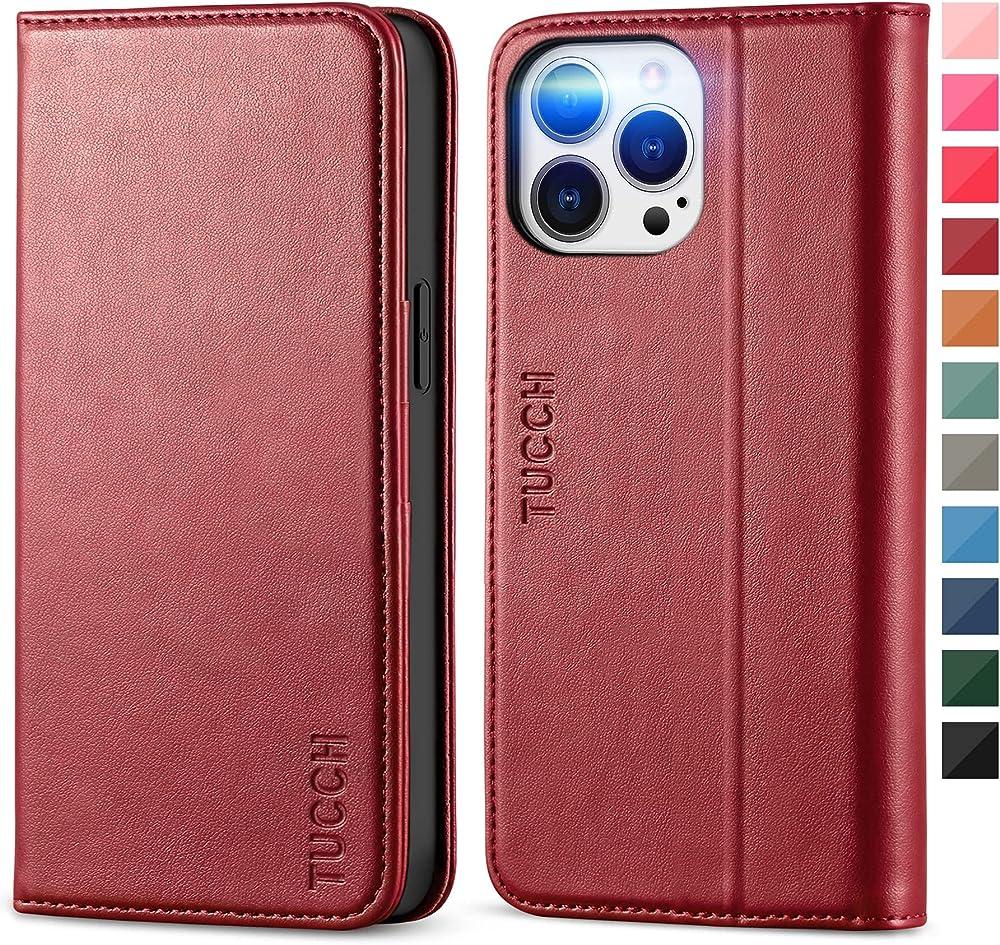 Tucch porta carte di credito portafoglio custodia in pelle sintetitca per iphone 13 pro max 5G ECTH2108-70