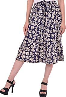 COTTON BREEZE Women's A-line Skirt Blue