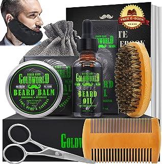 Beard Kit,Beard Growth Kit,Beard Grooming Kit,w/Beard Guard,Beard Growth Oil,Beard Balm Conditioner,Beard Brush,Beard Comb...