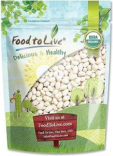 Organic Navy Beans, 3 Pounds - Dry White Small Kidney Pea Beans, Non-GMO, Kosher, Raw, Vegan, Bulk