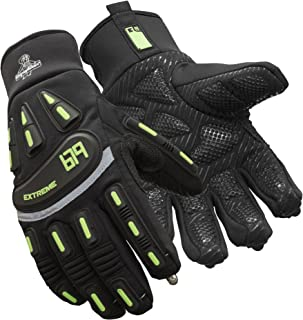 RefrigiWear Men's Insulated Extreme Freezer Gloves with Touch-Rite Nib for Touchscreen Capability